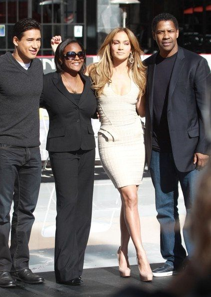Mario Lopez, Jennifer Lopez & Denzel Washington
